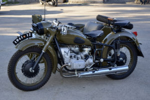 restored military motorcycle