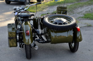 restored russian army vintage motorcycle