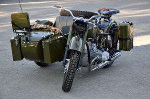 fully restored army motorcycle