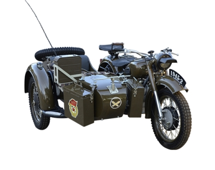 restored vintage russian army motorcycle