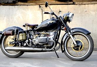 restored vintage motobike